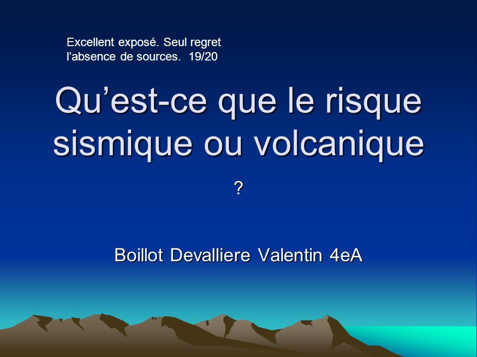 Qu'est-ce que le risque sismique ou volcanique