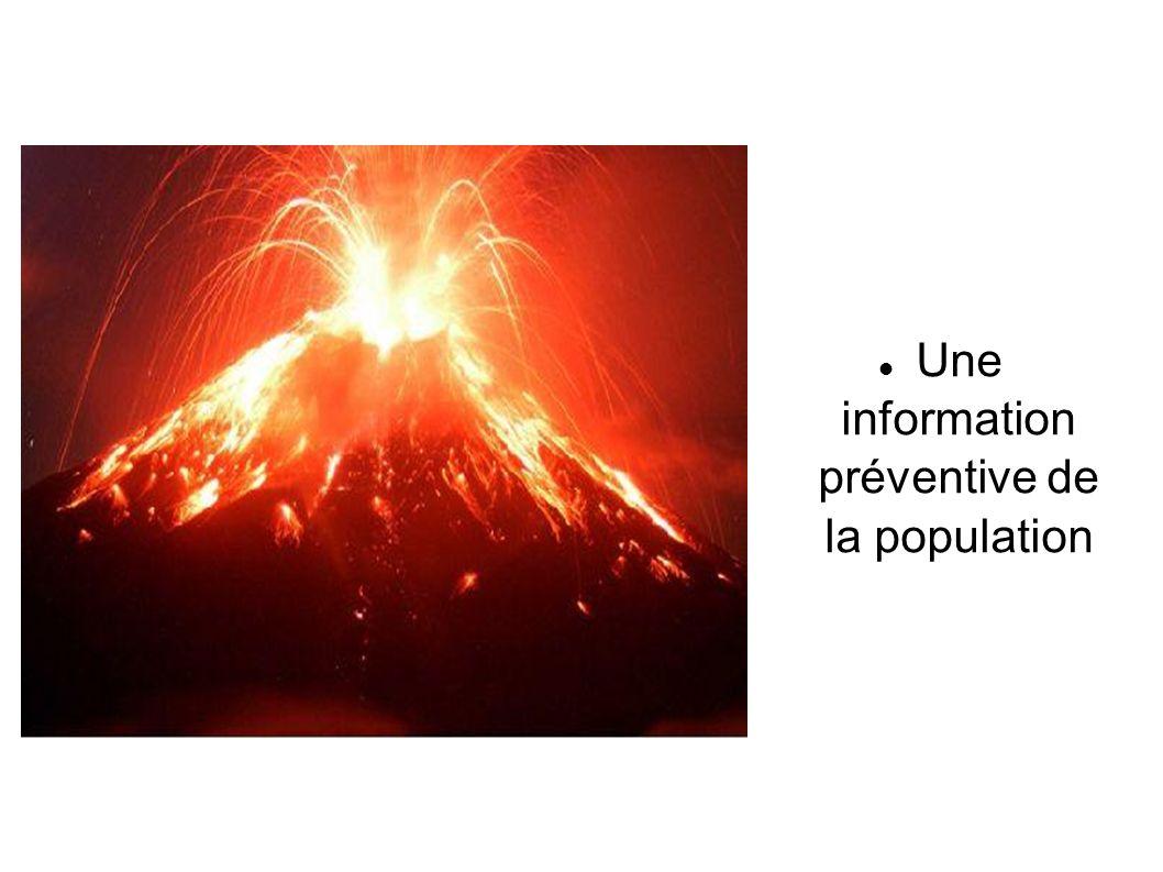 Une information préventive de la population