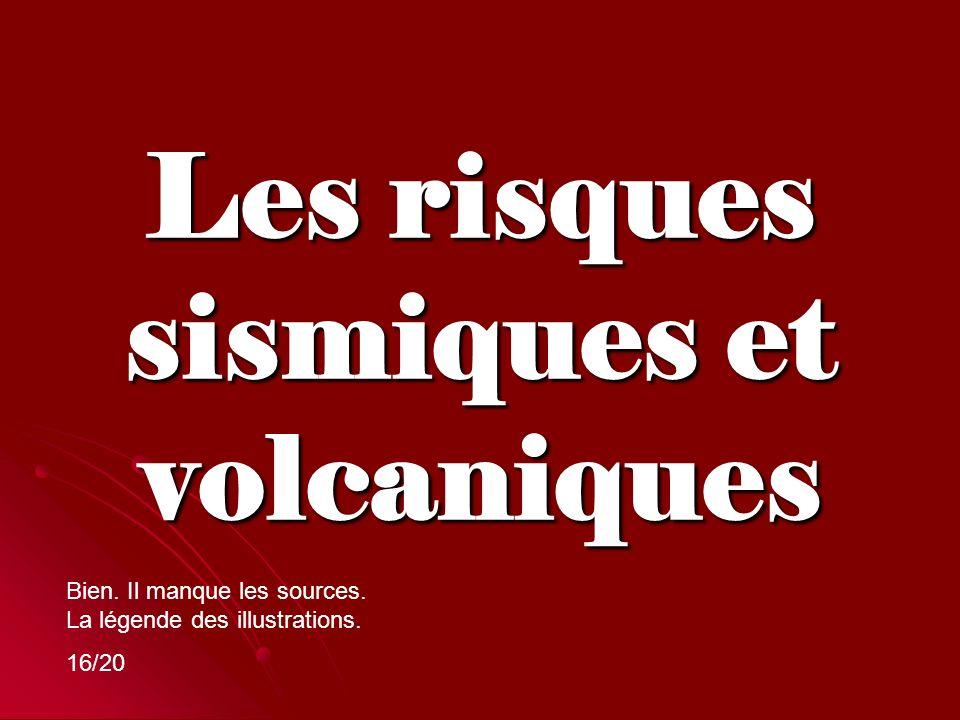 Les risques sismiques et volcaniques