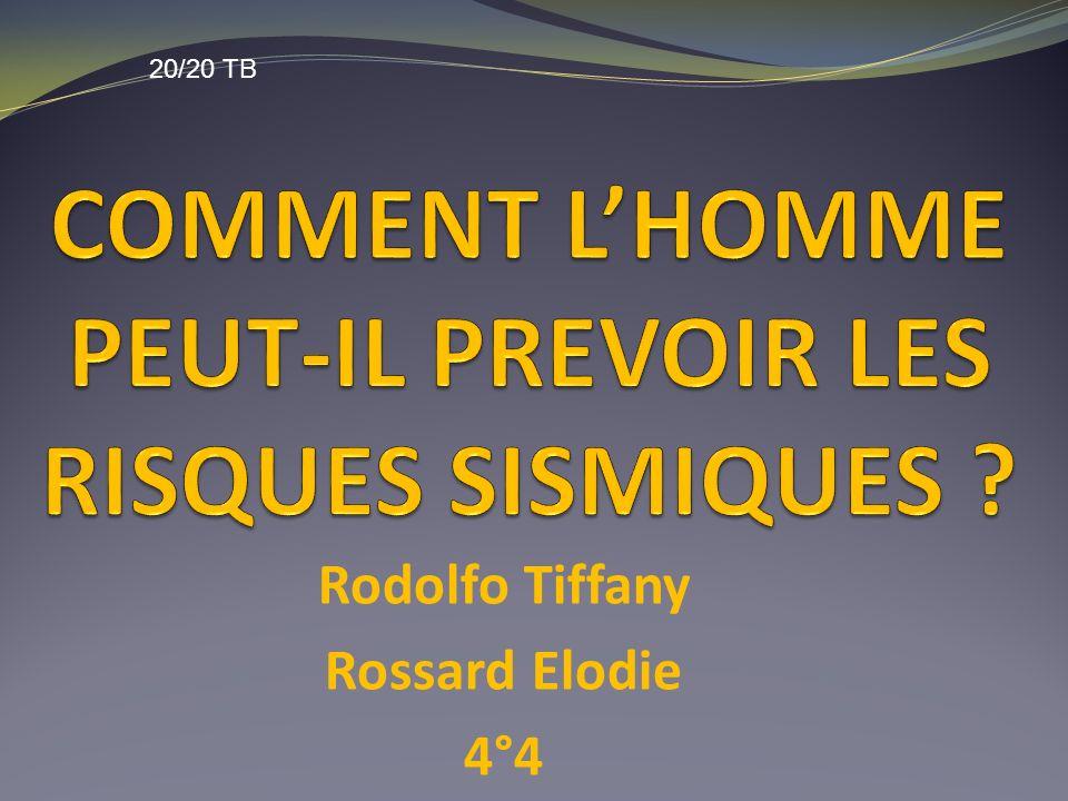 COMMENT L'HOMME PEUT-IL PREVOIR LES RISQUES SISMIQUES