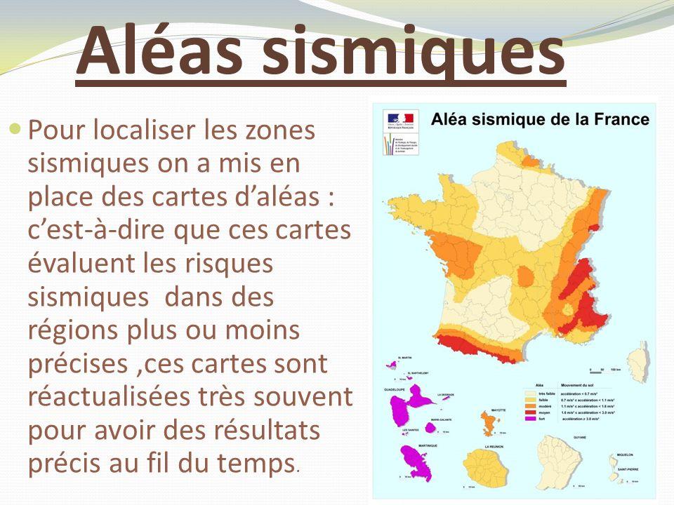 Aléas sismiques