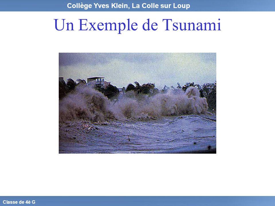 Un Exemple de Tsunami