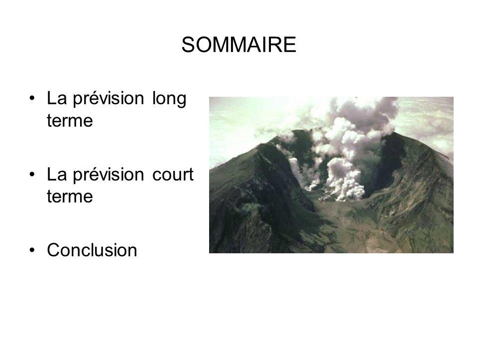 SOMMAIRE La prévision long terme La prévision court terme Conclusion
