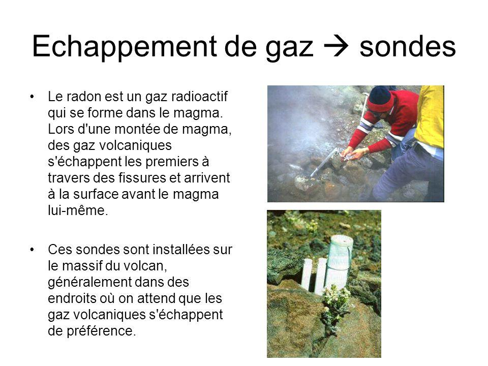 Echappement de gaz  sondes