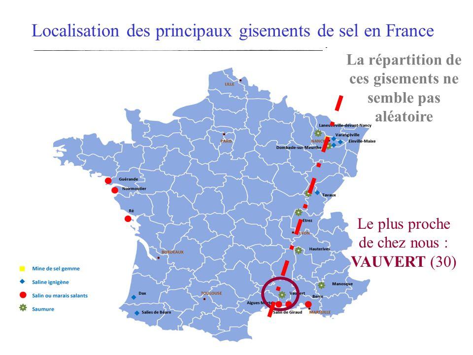 Localisation des principaux gisements de sel en France