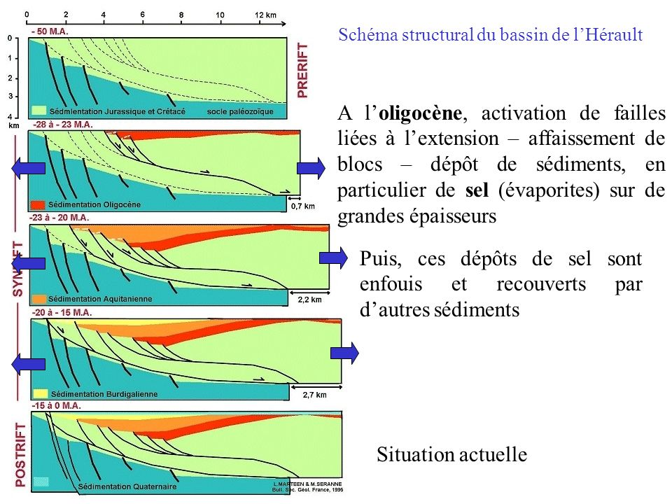 Schéma structural du bassin de l'Hérault