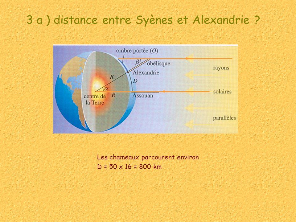 3 a ) distance entre Syènes et Alexandrie