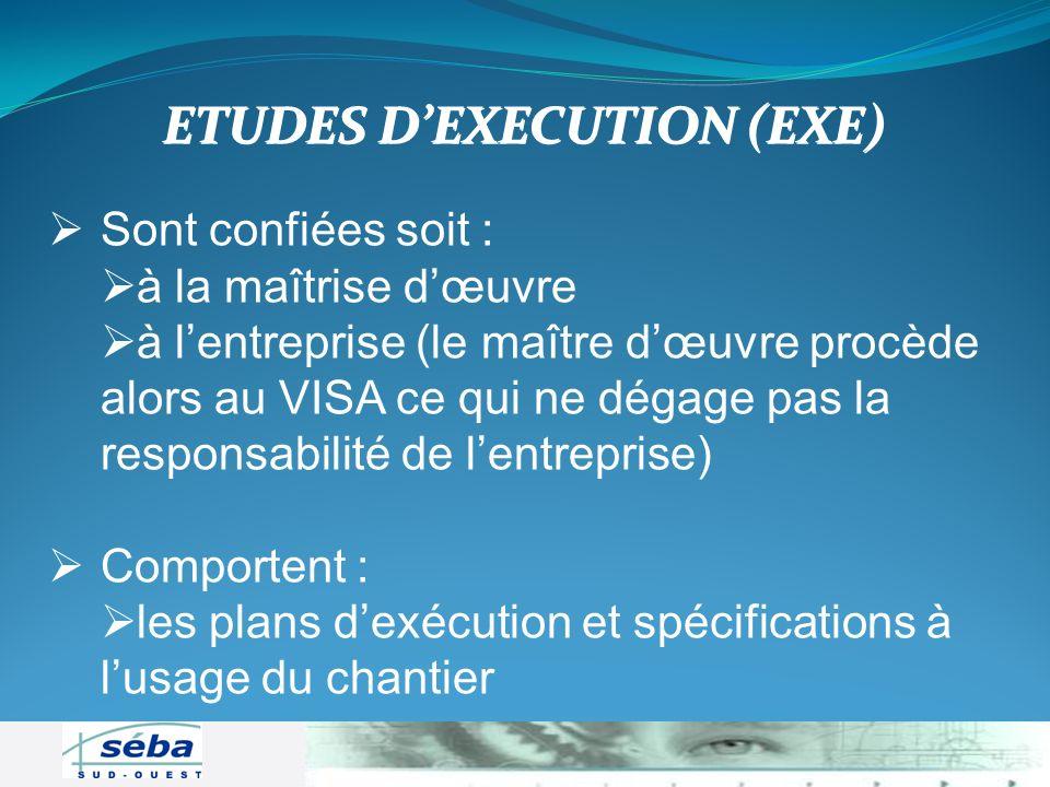 ETUDES D'EXECUTION (EXE)