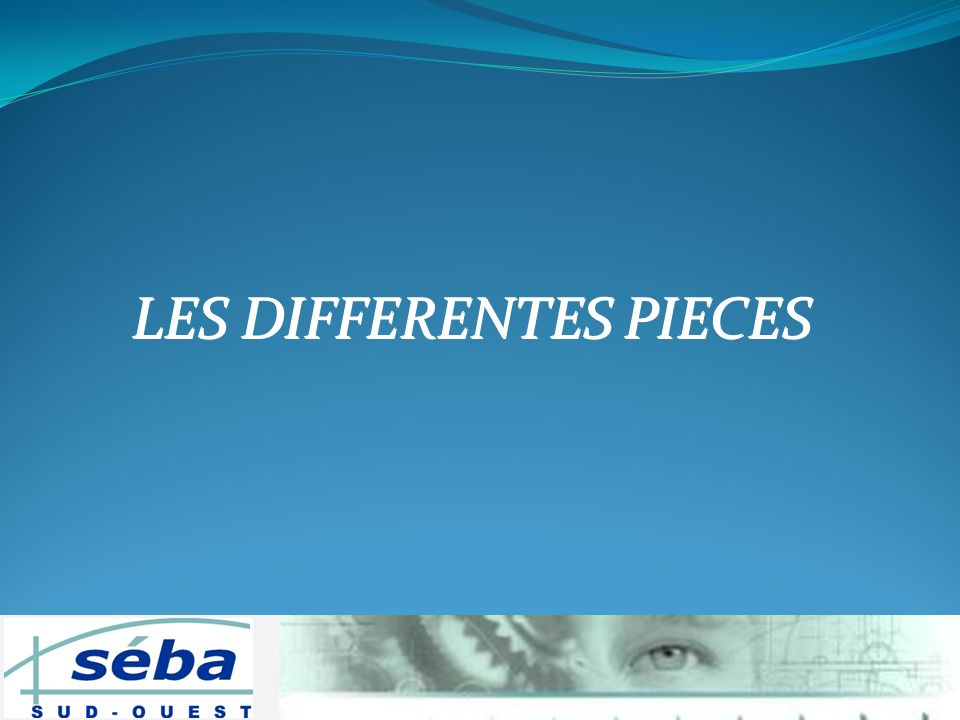 LES DIFFERENTES PIECES