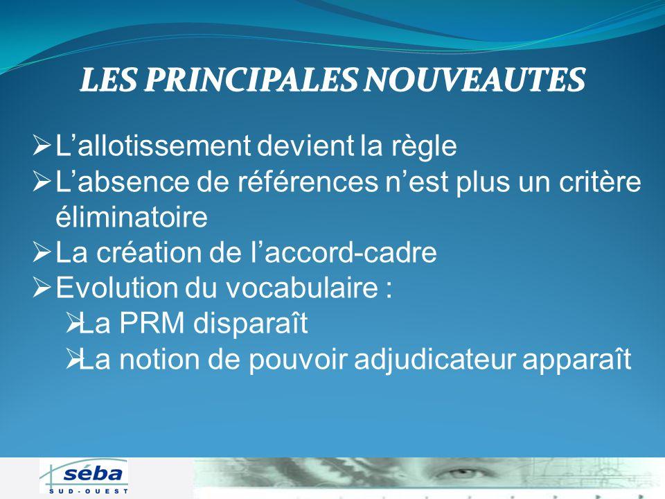 LES PRINCIPALES NOUVEAUTES