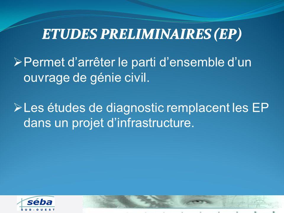 ETUDES PRELIMINAIRES (EP)