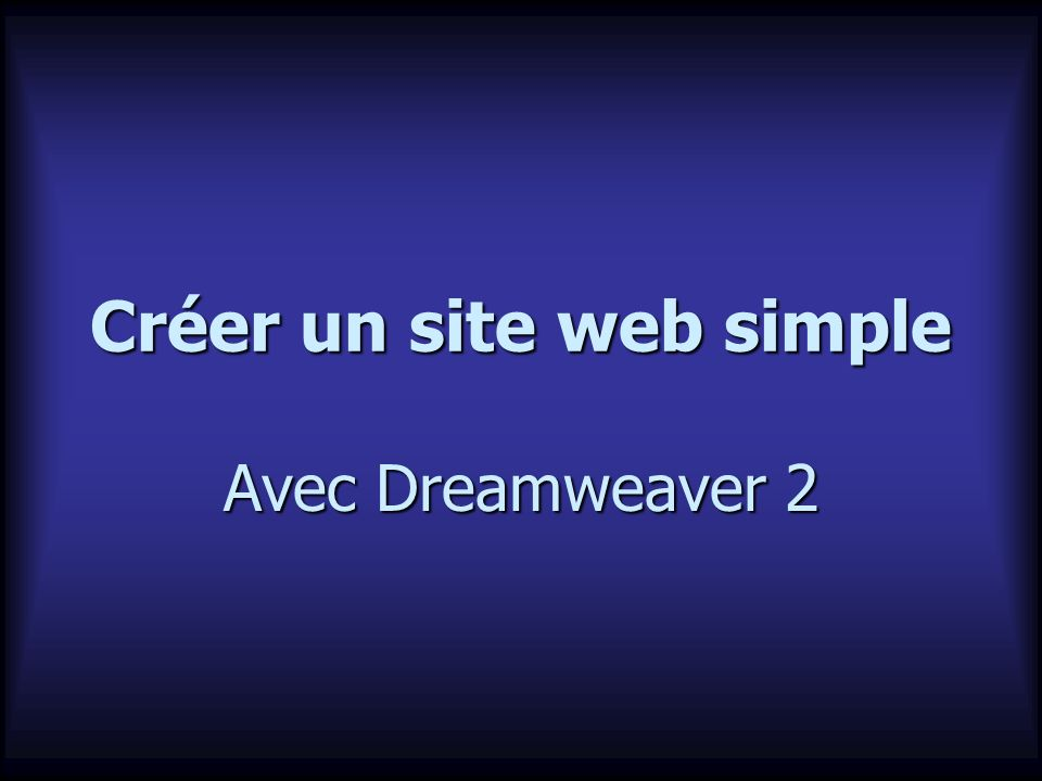Créer un site web simple