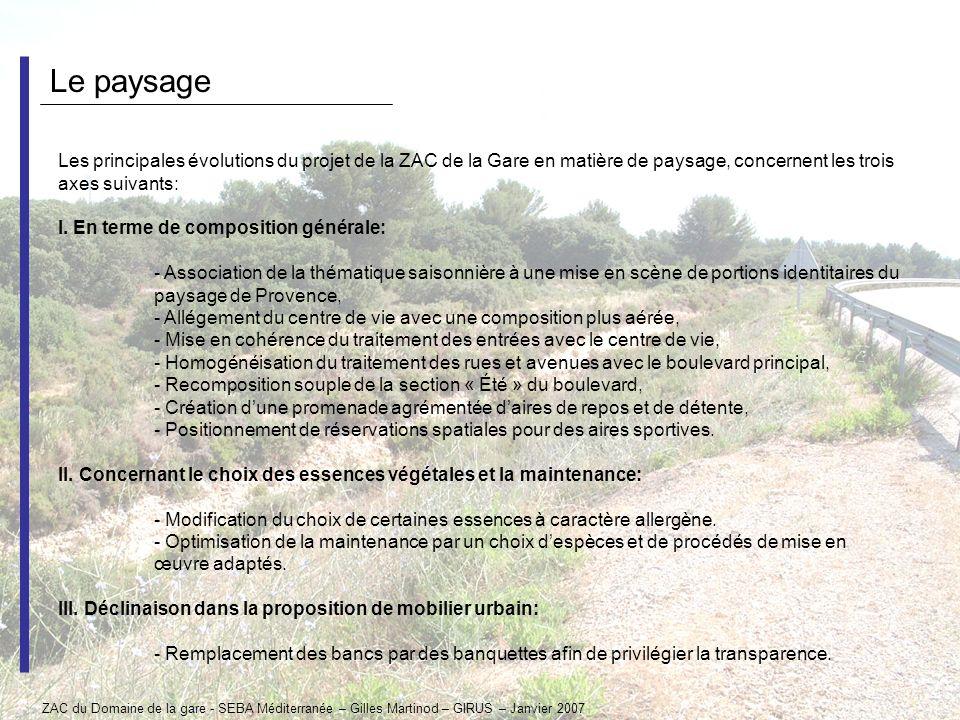 Le paysage Les principales évolutions du projet de la ZAC de la Gare en matière de paysage, concernent les trois axes suivants: