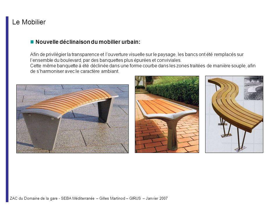 Le Mobilier Nouvelle déclinaison du mobilier urbain:
