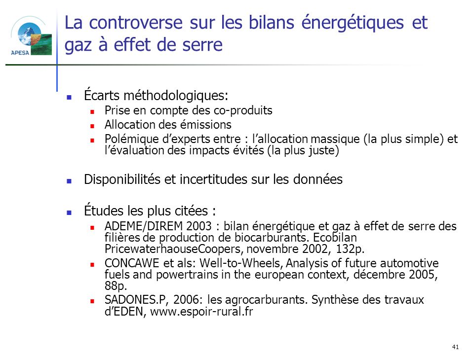 La controverse sur les bilans énergétiques et gaz à effet de serre