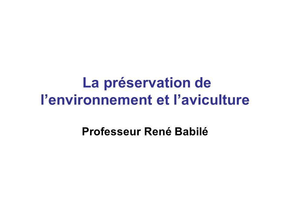 La préservation de l'environnement et l'aviculture