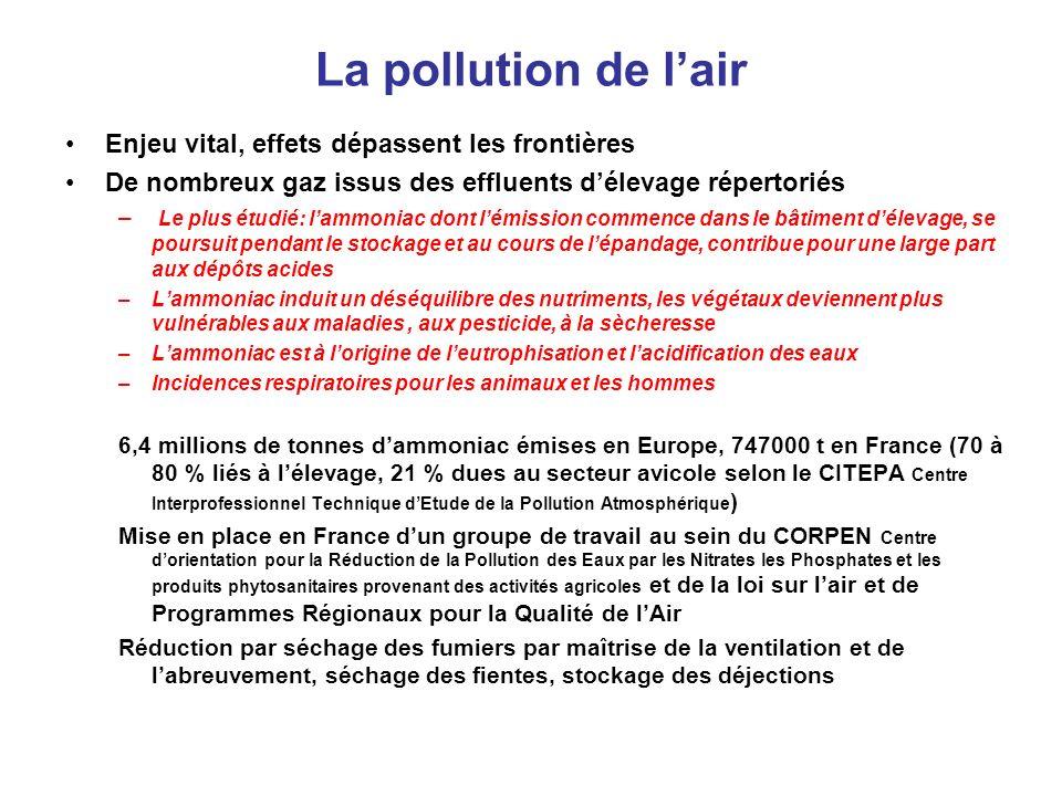 La pollution de l'air Enjeu vital, effets dépassent les frontières
