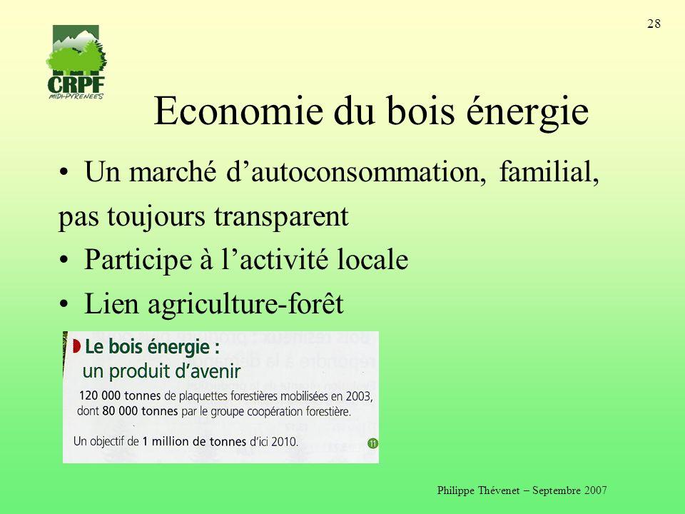 Economie du bois énergie