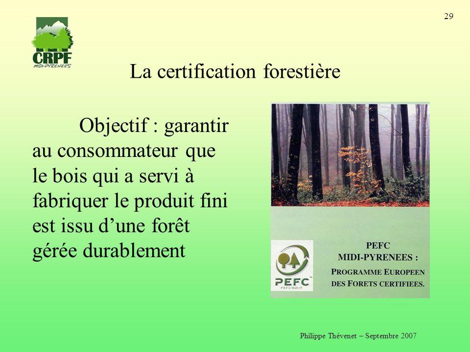 La certification forestière