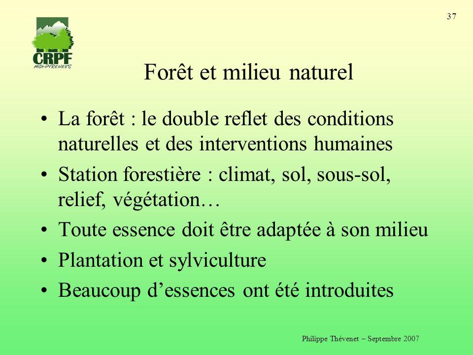 Forêt et milieu naturel