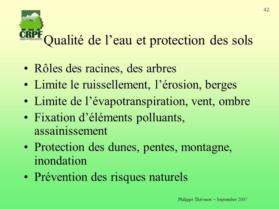 Qualité de l'eau et protection des sols