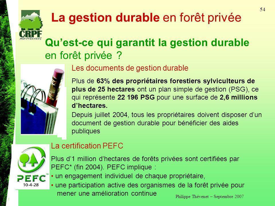 La gestion durable en forêt privée