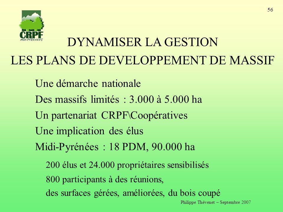 LES PLANS DE DEVELOPPEMENT DE MASSIF