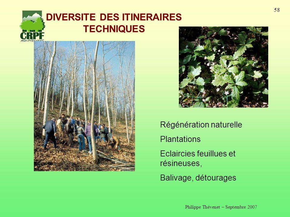 DIVERSITE DES ITINERAIRES TECHNIQUES
