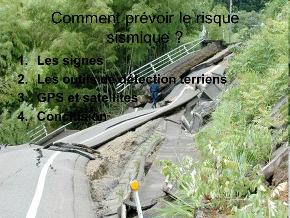 Comment prévoir le risque sismique
