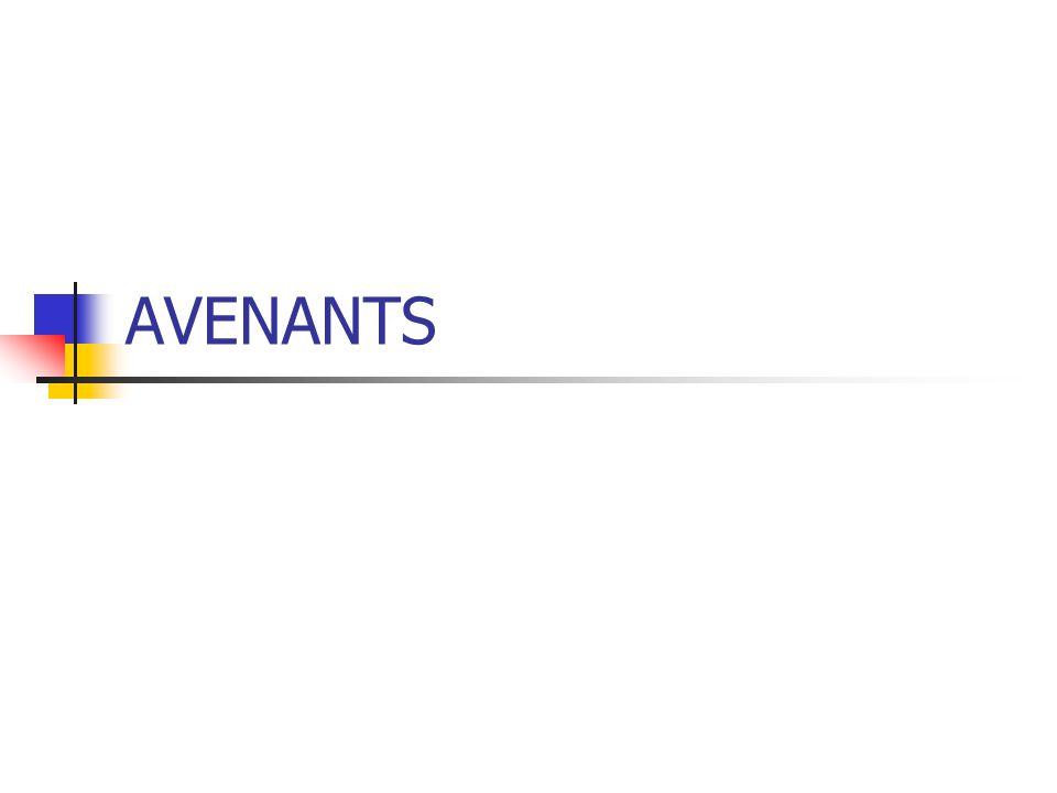 AVENANTS