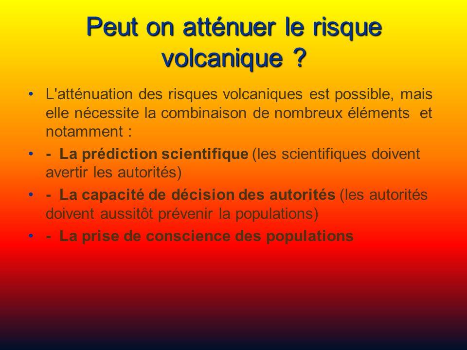 Peut on atténuer le risque volcanique