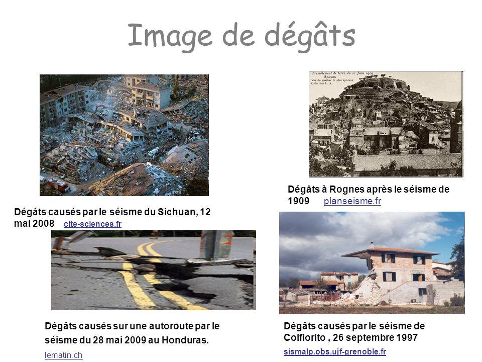 Image de dégâts Dégâts à Rognes après le séisme de 1909 planseisme.fr