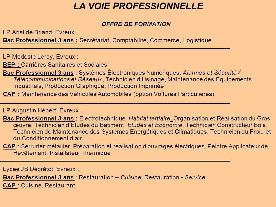 Apr s la 3 me pas simple ppt t l charger - Technicien cuisine professionnelle ...