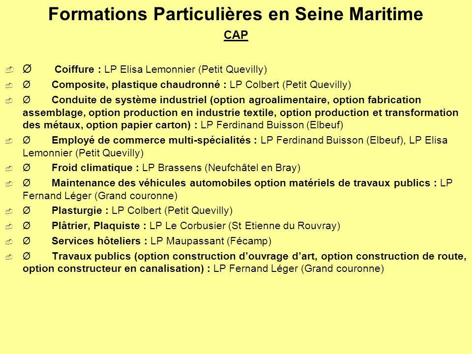 Formations Particulières en Seine Maritime