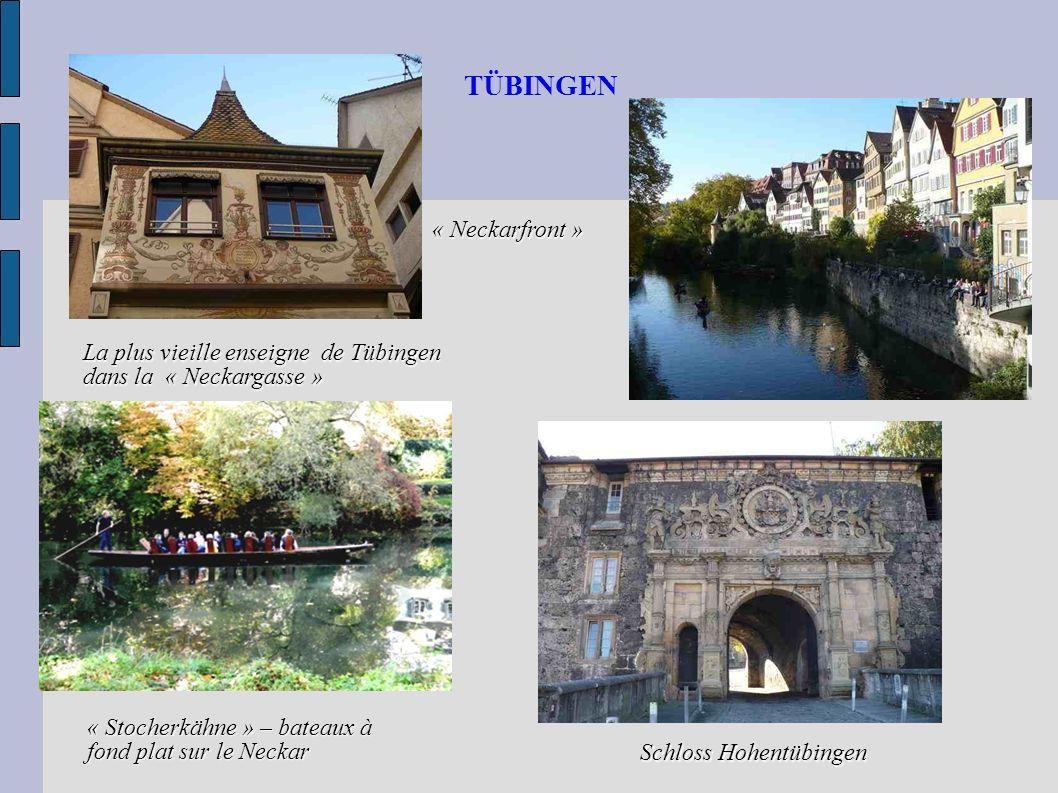 TÜBINGEN « Neckarfront » La plus vieille enseigne de Tübingen