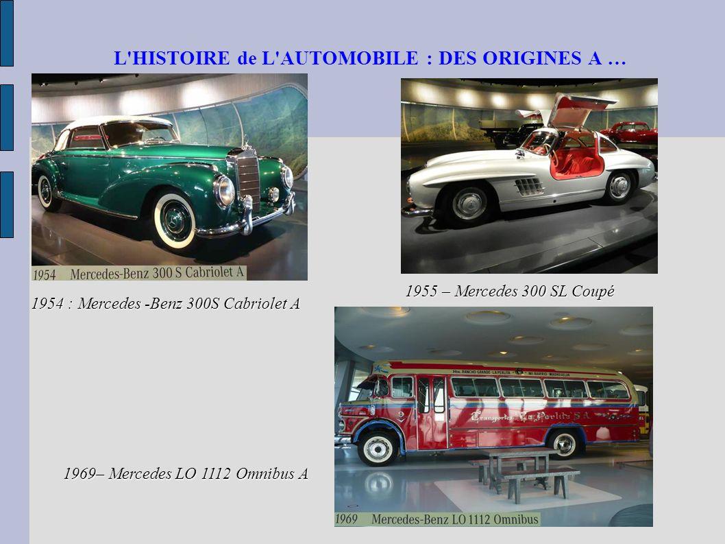 L HISTOIRE de L AUTOMOBILE : DES ORIGINES A …