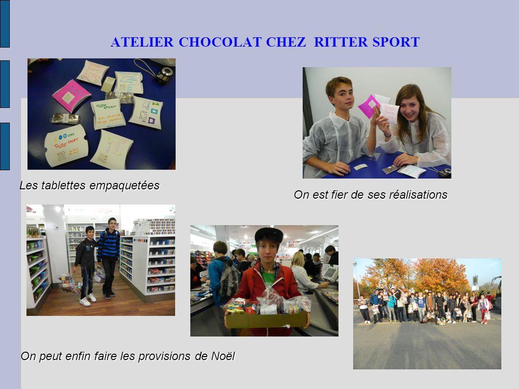 ATELIER CHOCOLAT CHEZ RITTER SPORT