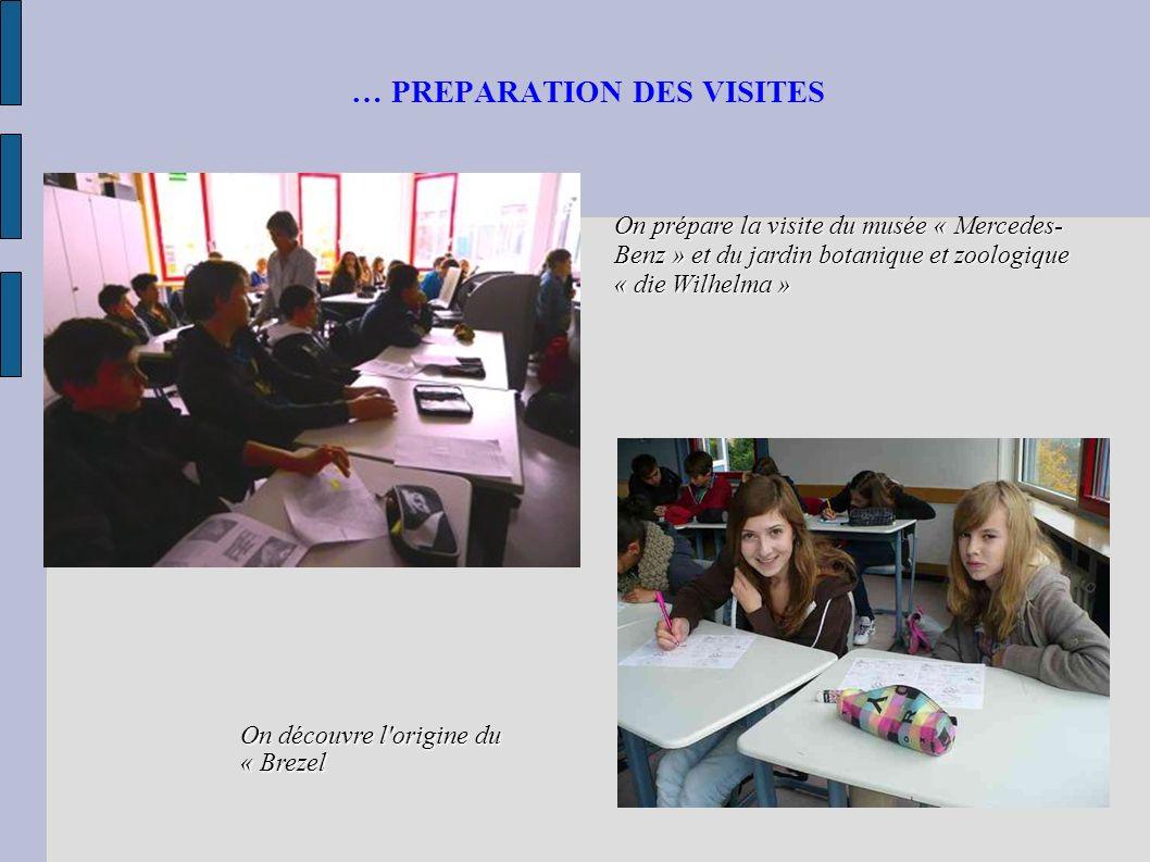 … PREPARATION DES VISITES