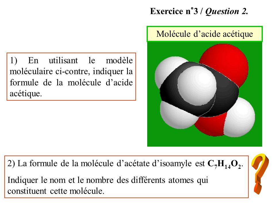 Molécule d'acide acétique