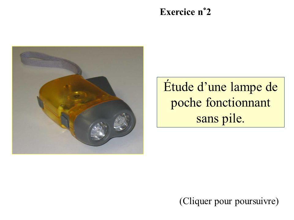 Étude d'une lampe de poche fonctionnant sans pile.