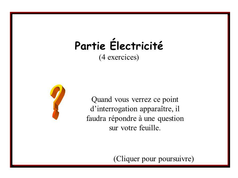 Partie Électricité (4 exercices)