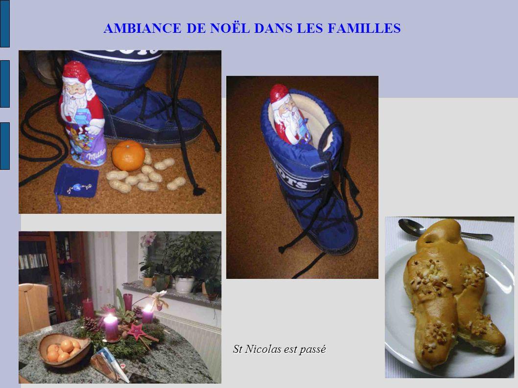 AMBIANCE DE NOËL DANS LES FAMILLES