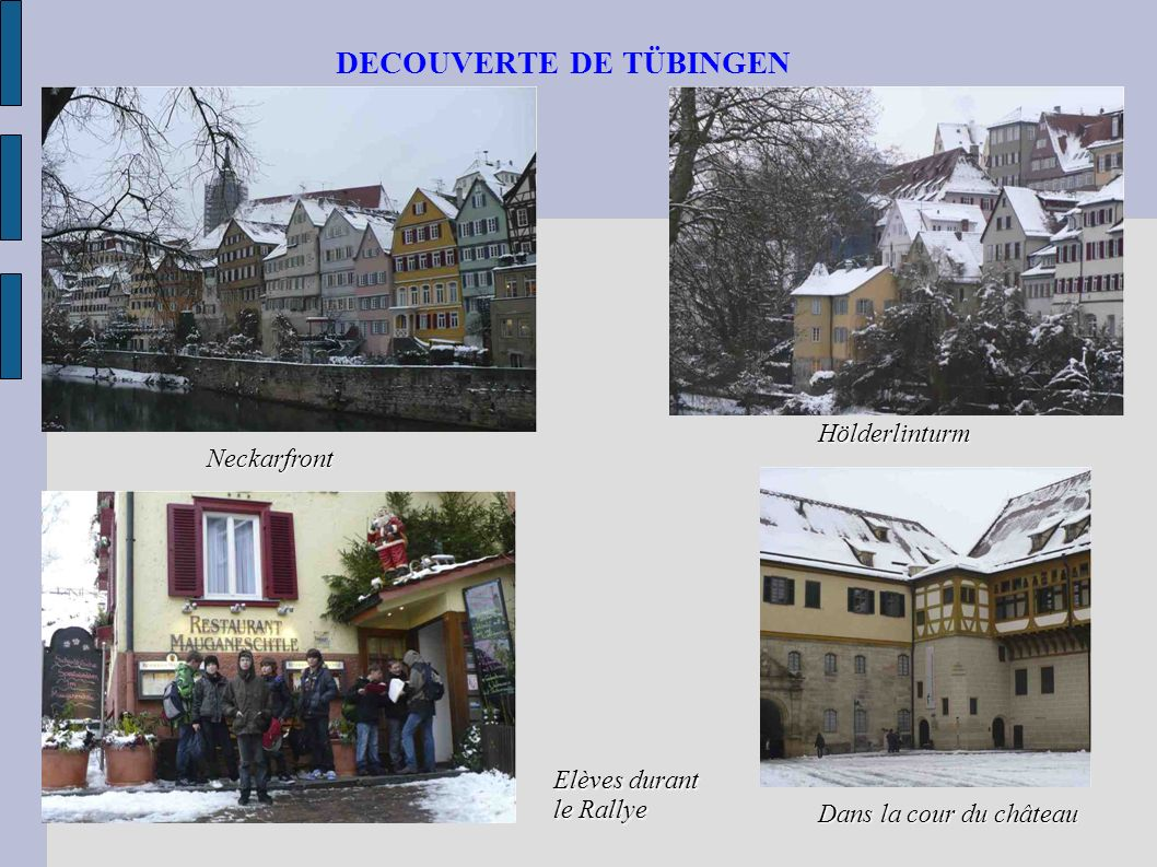 DECOUVERTE DE TÜBINGEN