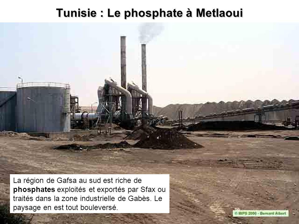 Tunisie : Le phosphate à Metlaoui