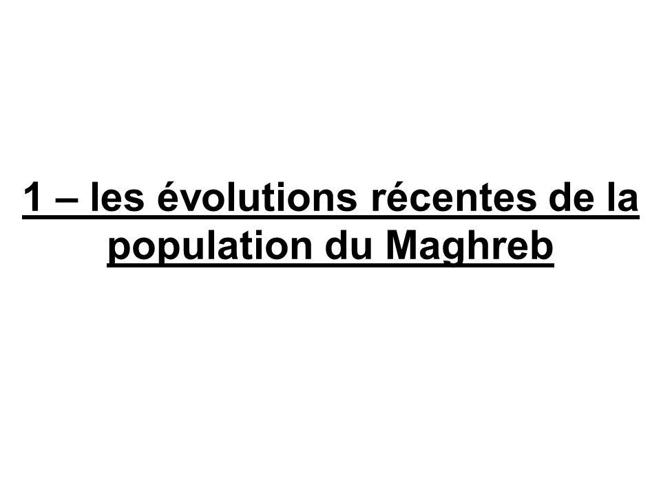 1 – les évolutions récentes de la population du Maghreb
