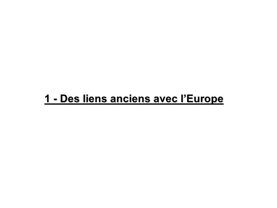 1 - Des liens anciens avec l'Europe