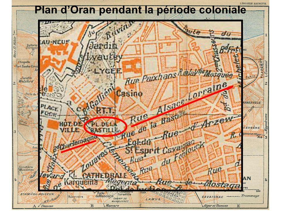 Plan d'Oran pendant la période coloniale