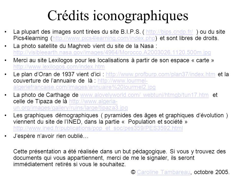 Crédits iconographiques