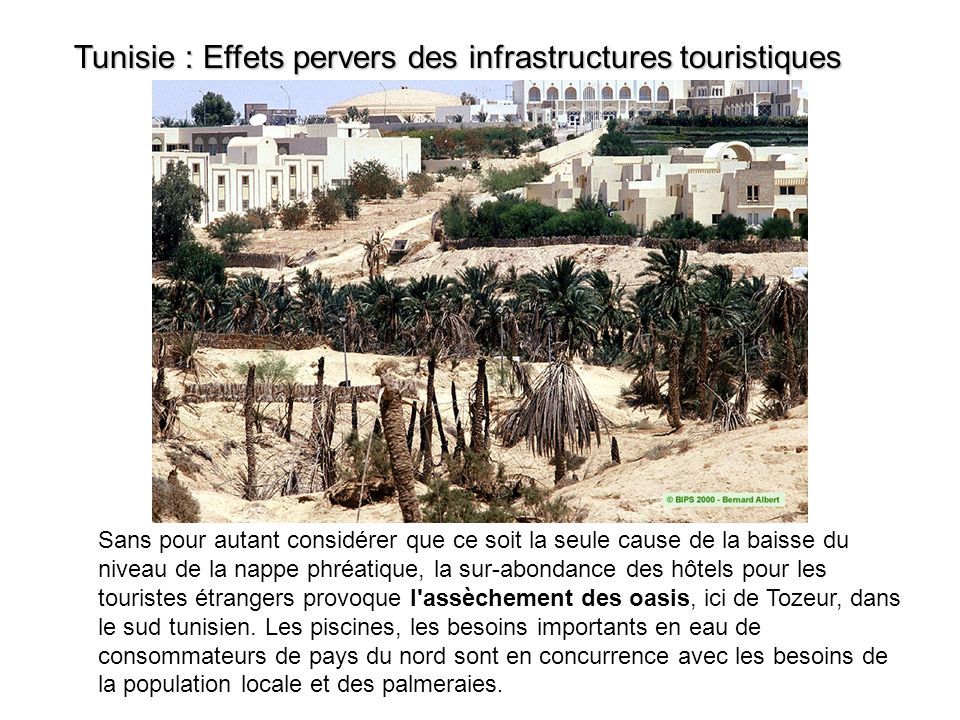 Tunisie Les effets pervers des infrastructures touristiques