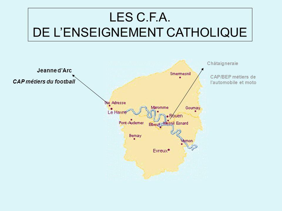 LES C.F.A. DE L'ENSEIGNEMENT CATHOLIQUE